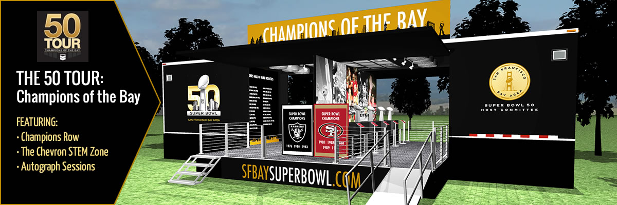 The 50 Tour: Champions of the Bay - featuring Champions Row, The Chevron STEM Zone, Autograph Session - click for details