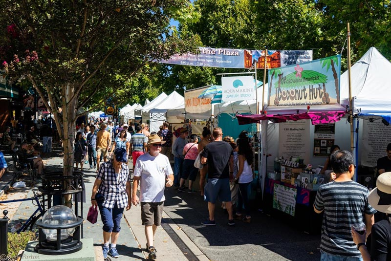 Mountain View Art & Wine Festival booths