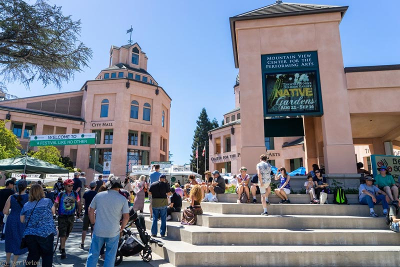 festival setting in downtown Mountain View