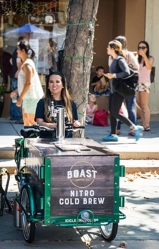 Boast Coffee Company nitro cold brew cart