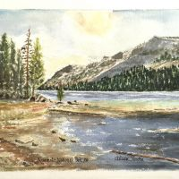 Alain Fastre watercolor - Yosemite National Park