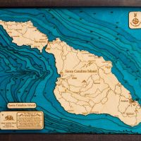 Roger Floren 3D wood maps - Santa Catalina